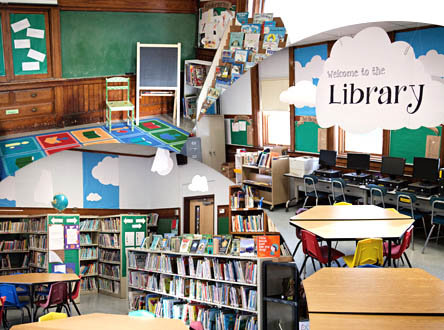 Photos of the GES Library